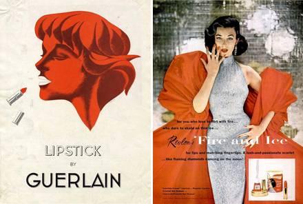 Werbeplakate von Guerlain und Revlon.