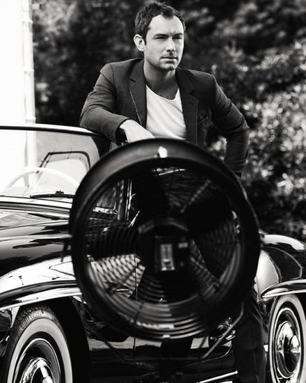 """Backstage bei den Dreharbeiten zu einem neuen Spot von """"Dior Sport Homme"""", für den Jude Law vor der Kamera stand."""