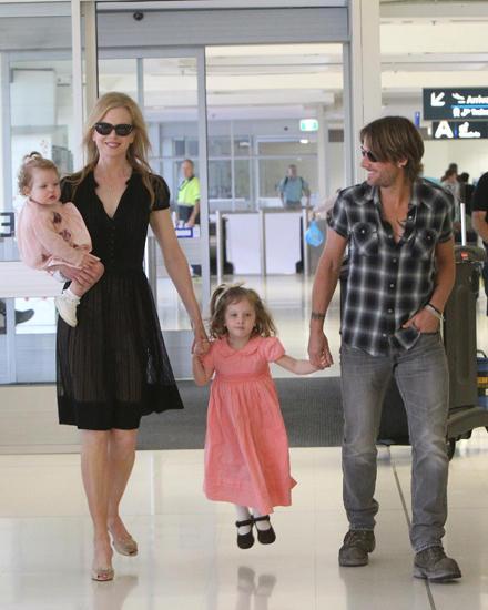 Nicole Kidman mit Keith Urban und den Töchtern Faith und Sunday-Rose.