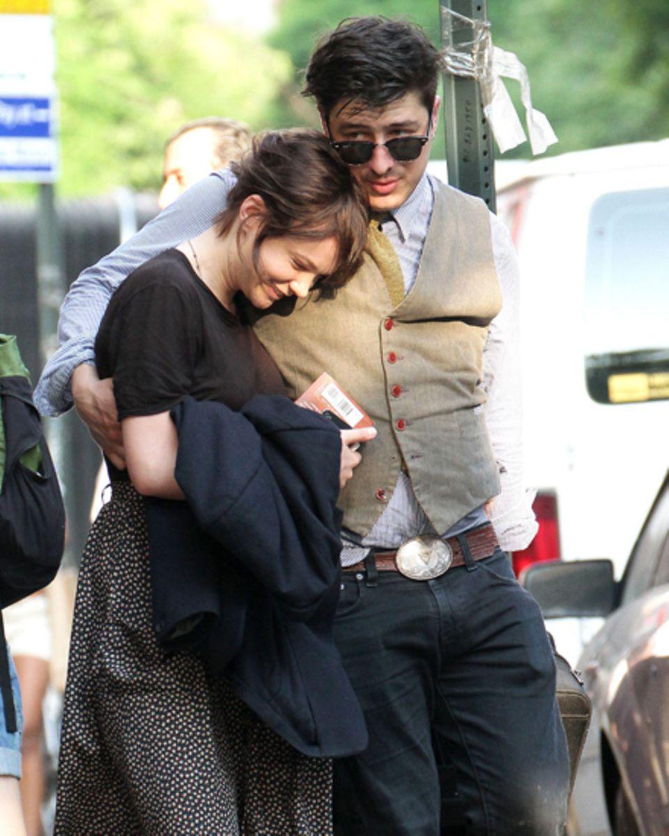 Carey Mulligan mit ihrem Verlobten Marcus Mumford.