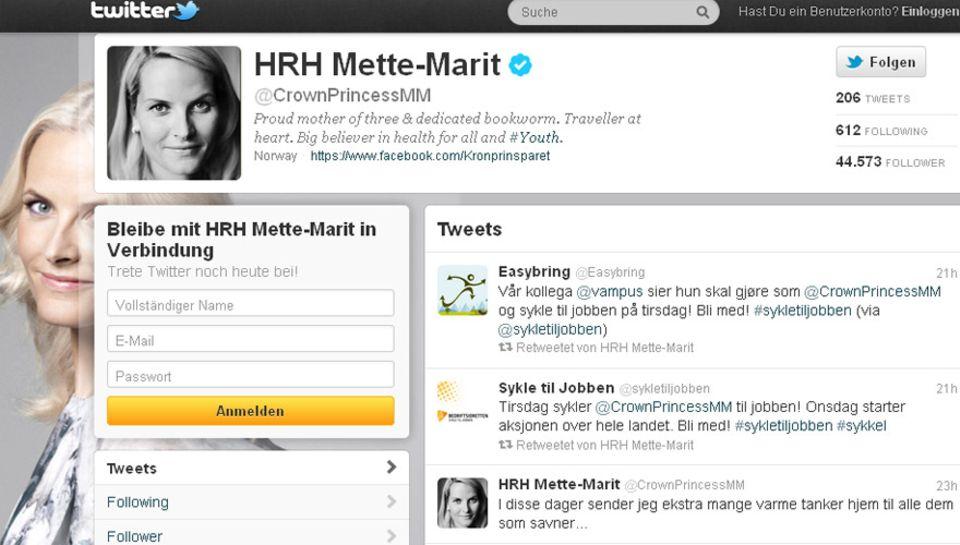 Prinzessin Mette-Marit wendet sich per Twitter an die Überlebenden und Hinterbliebenen der Anschläge.