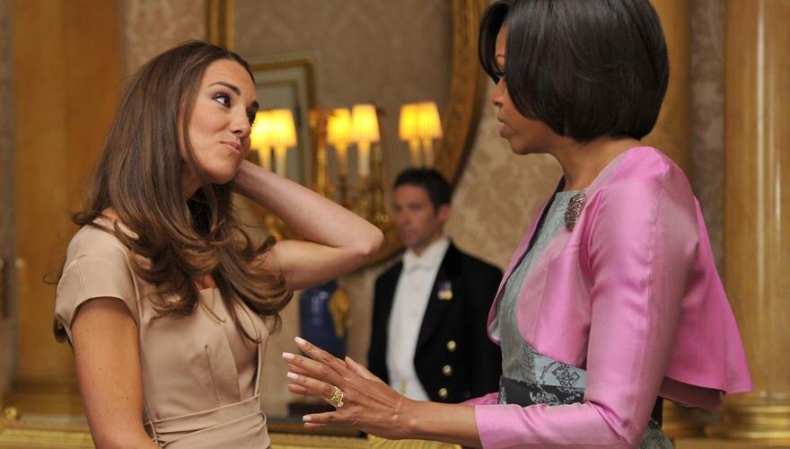 Wenige Tage nach der Hochzeit besuchten, Barack und Michelle Obama den Buckingham-Palast. Catherine stach die First Lady modisch