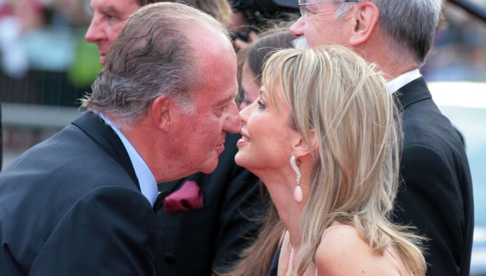Der König und die Deutsche: Juan Carlos und Corinna zu Sayn-Wittgenstein-Berleburg beim Laureus Sport Award 2006 in Barcelona. D