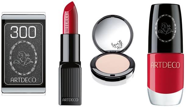 Sehr stylish sehen Dita von Teeses Make-up-Lieblinge aus, die sie gemeinsam mit der deutschen Firma Art Deco herausbringt: Lidsc