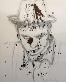 Dieses Blut-Selbstporträt stellte Pete Doherty bereits im Jahr 2007 aus.