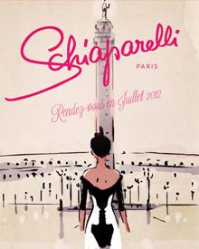 Retro-Rendez-vous mit Mode im Stil von Legende Elsa Schiaparelli in Paris.