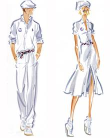 Entwürfe von Ralph Lauren für die Olympics 2012.
