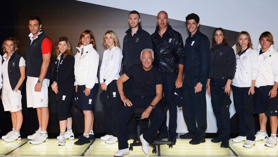 """Die """"Armani"""" Kollektion für die Olympischen Spiele 2012"""