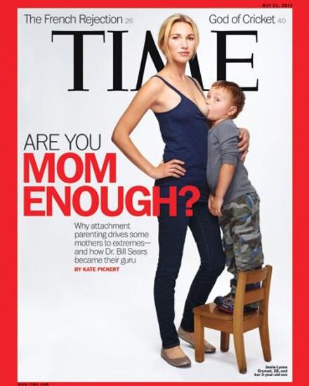 """Dieses Titelbild des """"Time""""-Magazins sorgte für Aufregung: Die 26-jährige Jamie Lynne Grumet stillt ihren fast vier Jahre alten"""