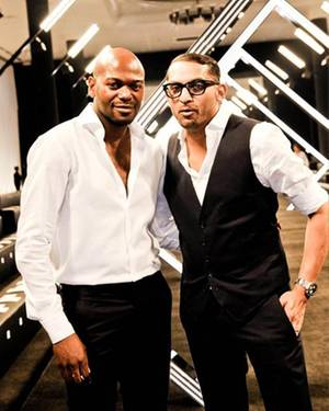 Sie begeisterten das Publikum mit einer glamourösen Kollektion: die Chefdesigner Eyan Allen (l.) und Kevin Lobo.