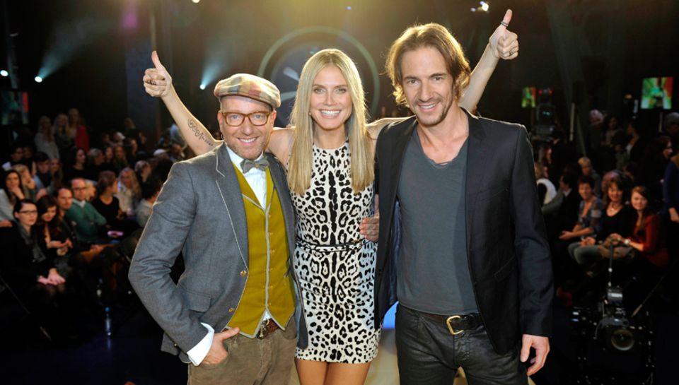 Eingespieltes Team: Heidi Klum mit ihren Juroren Thomas Hayo, 42 (r.), und Thomas Rath, 46.