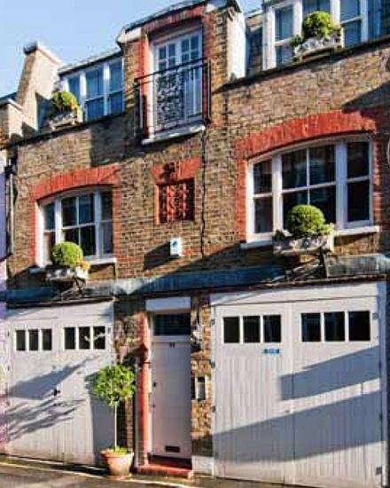 So sieht das Londoner Haus von Kate Hudson und Matt Bellamy von außen aus.