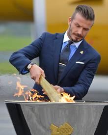 Im Mai nahm David Beckham die Fackel und lief durch Cornwall. Nun ist der olympischer Traum des 37-Jährigen ausgeträumt.