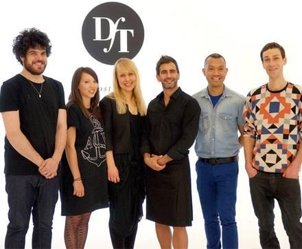 """Die Finalisten bei """"Designer for Tomorrow"""" und ihr Mentor (v. l.): Leandro Cano Luque, Laura Williams, Camilla Salgaard, Marc Ja"""