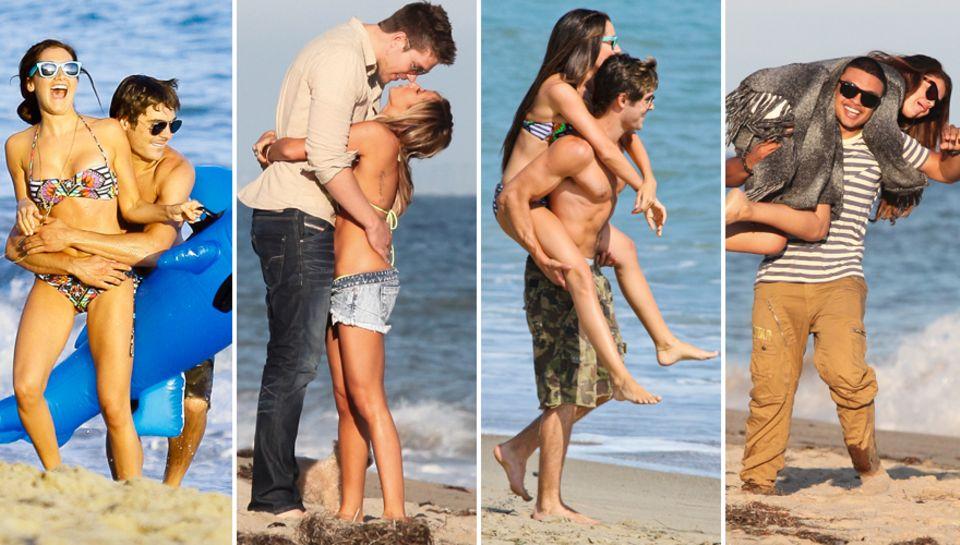 Ashley Tisdales Geburtstagsroutine: 2011 Blödeln mit Zac Efron, 2012 Kuscheln mit Scott Speer. Huckepack wurde dieses Jahr jedoc