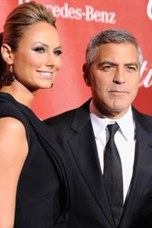 Stacy Keibler und George Clooney