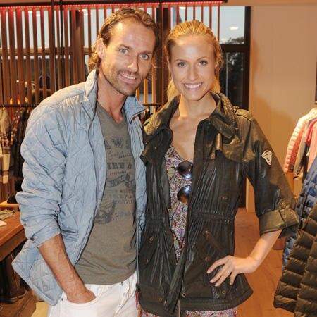 Sven Hannawald und Alena Gerber
