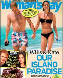 """Das australische Magazin """"Woman's Day"""" zeigt exklusiv Bilder von Williams und Catherines Flitterwochen."""