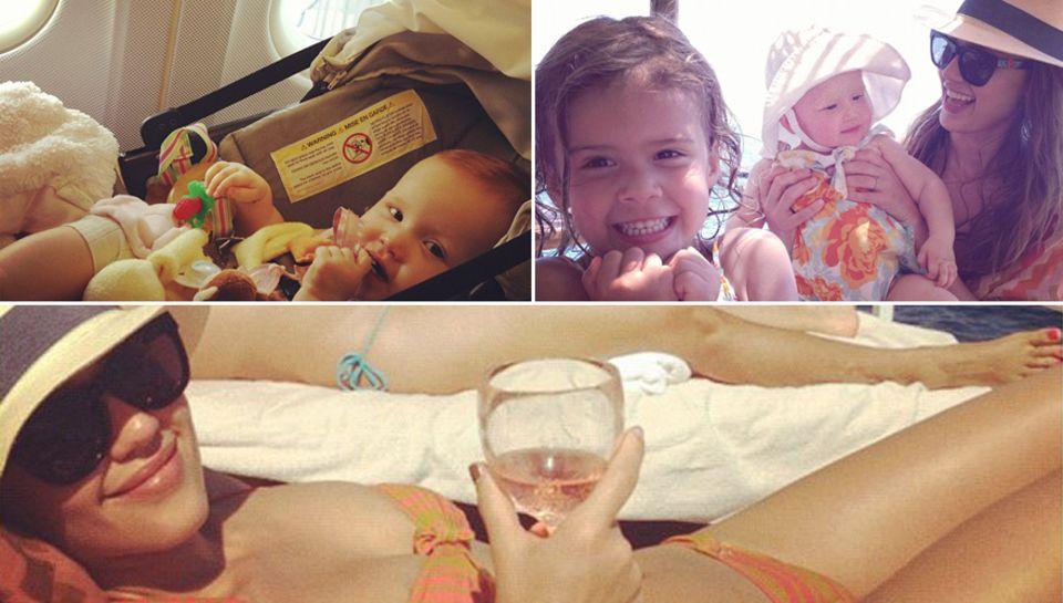Entspannter Urlaub: Jessica Alba ist mit ihren Töchtern in Italien unterwegs.