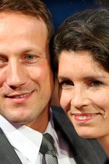 Die Frau seines Lebens: Wotan Wilke Möhring, 45, mit Partnerin Anna Theis, 35, einer Kamerafrau. Mit den gemeinsamen Kindern Mia
