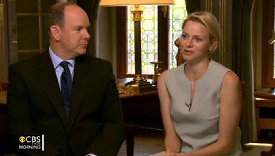 Fürst Albert und Fürstin Charlène luden den TV-Sender CBS in ihren Palast nach Monaco ein.