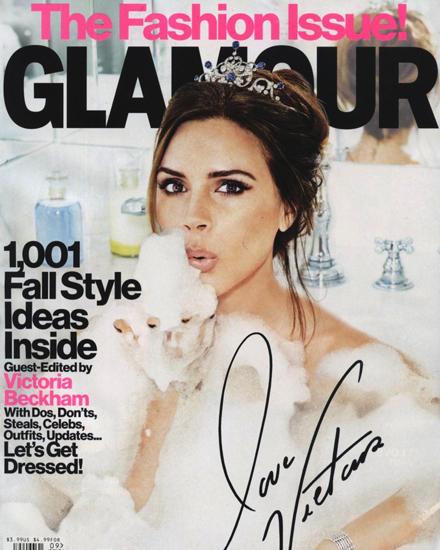 """Cover-Girl: Fünf Monate hat Victoria Beckham an der September-Ausgabe der Zeitschrift """"Glamour"""" als Gast-Redakteurin mitgearbeit"""