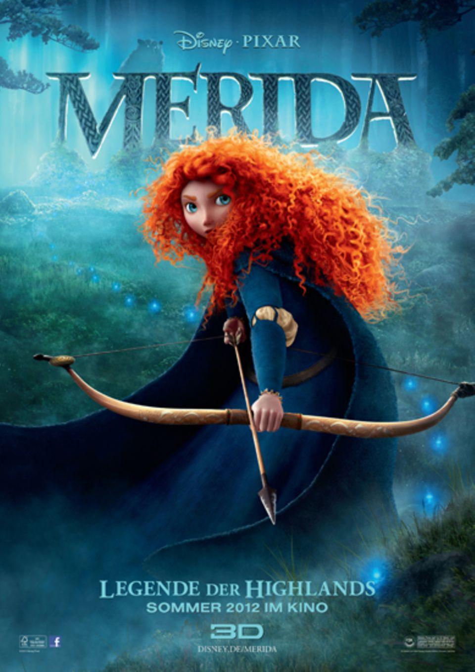 Dieses Mädchen braucht keinen Traumprinzen: Die schottische Königstochter Merida ist eine Meisterin im Bogenschießen, sehr mutig