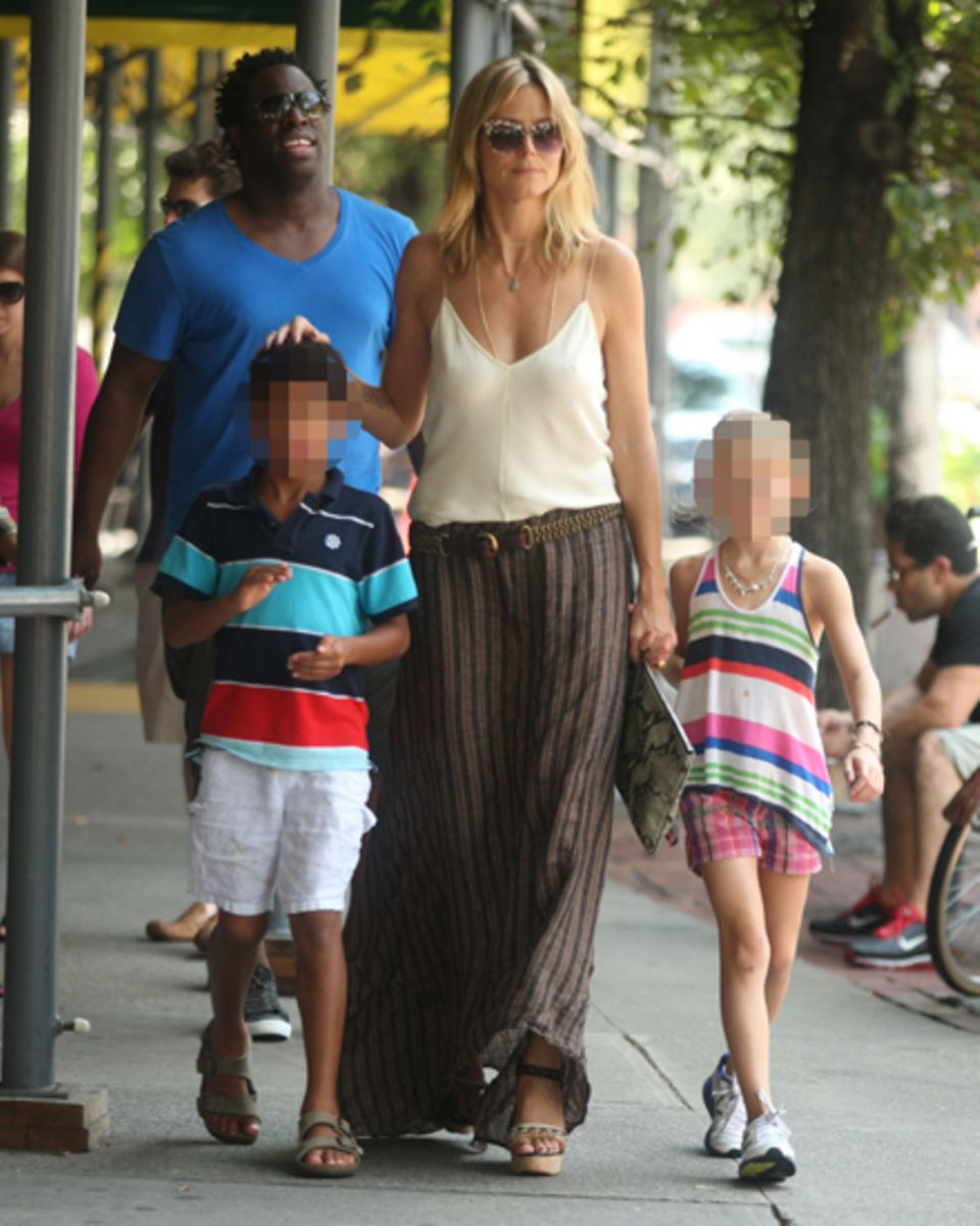 Starke Unterstützung: Gerade besuchte Seals Bruder Jeymes Heidi und die Kinder in New York.