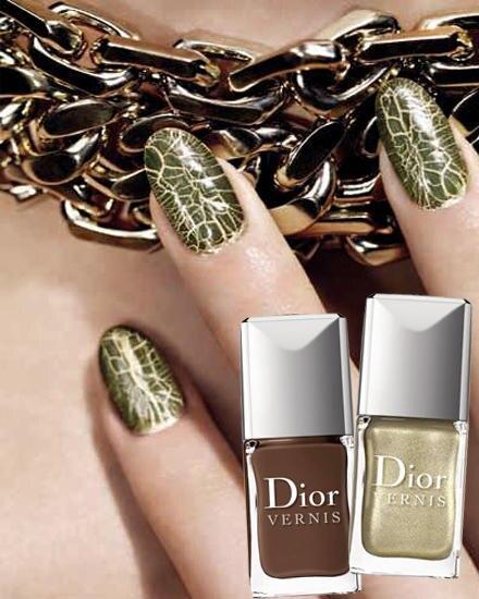 """In metallischen Tönen besonders chic: """"Golden Jungle Nail Art Duo"""" von Dior, ca. 32 Euro, limitiert"""
