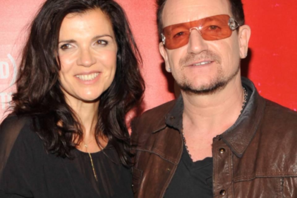 Bono und seine Frau Alison Hewson