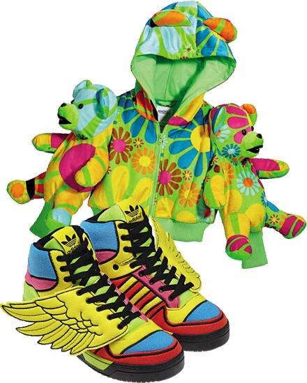 """""""Adidas Originals by Jeremy Scott"""" heißt die Kollektion, die Scott seit 2003 sehr erfolgreich entwirft. Für Herbst/Winter 2012 k"""
