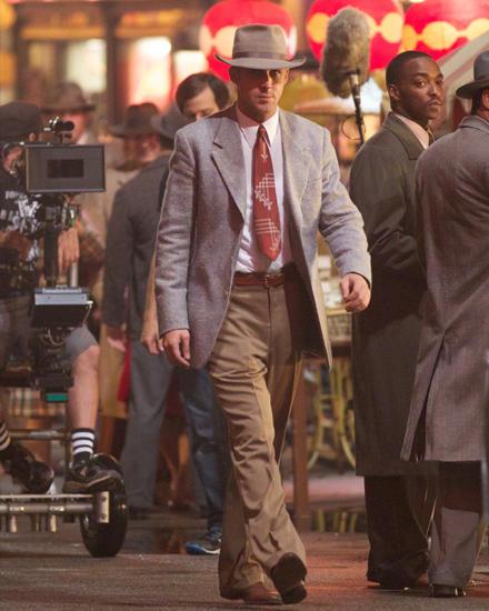 """Ryan Gosling steht in New York für """"Gangster Squad"""" erneut vor der Kamera."""