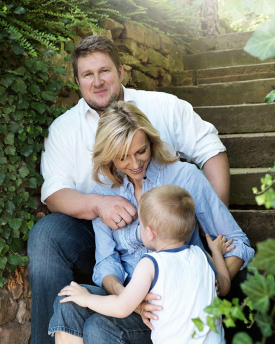 Endlich ein Geschwisterchen für Felix, 2: Anfang 2013 erwartet Inge Steiner, 42, ihr zweites Wunschkind von Ehemann Matthias, 30
