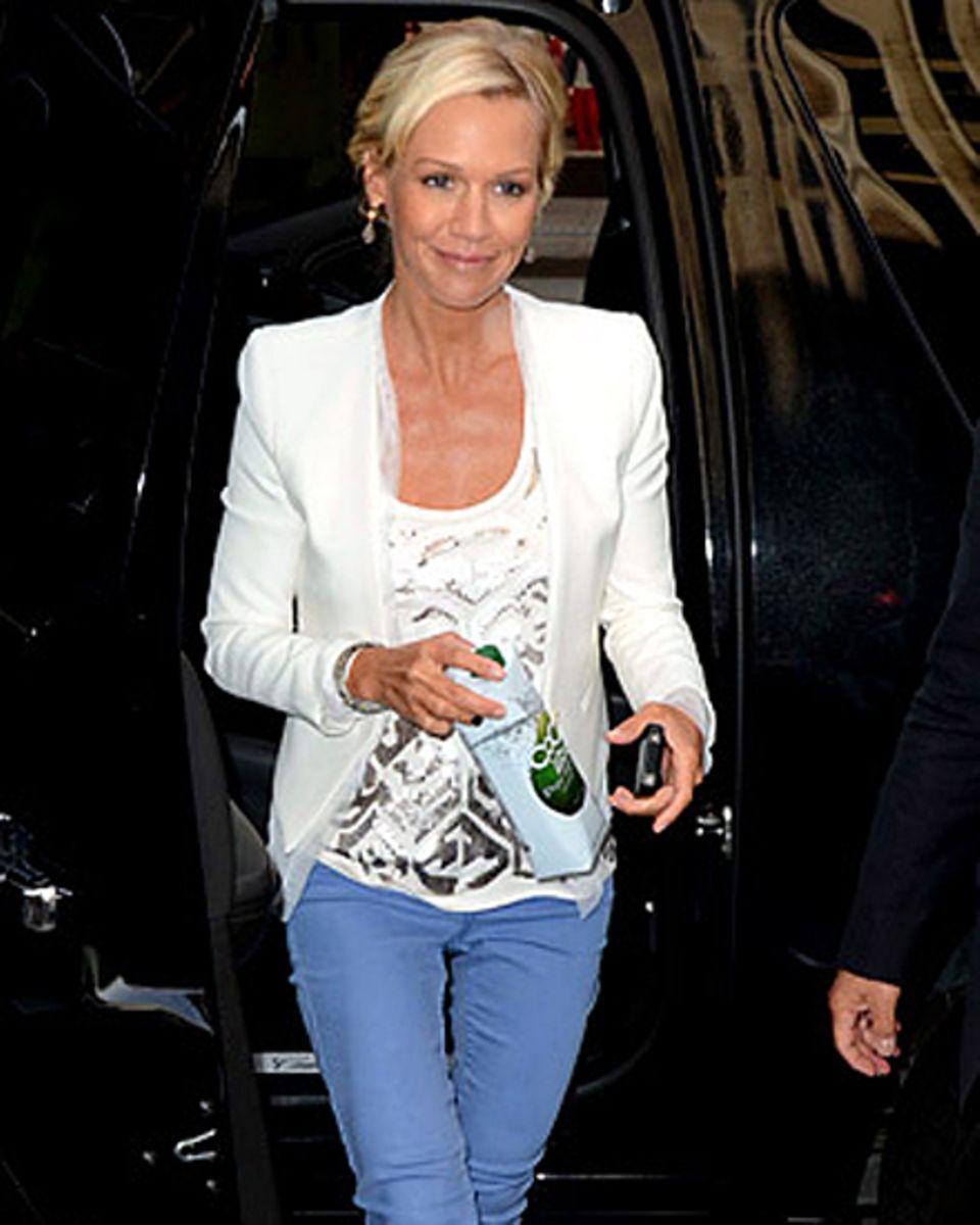 Jennie Garth Anfang des Monats in Los Angeles: Sie wirkt stark abgemagert.