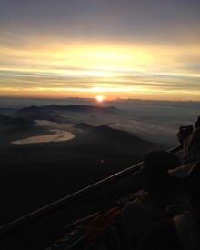 Hugh Jackman twittert am 28. August 2012 diesen Blick vom Mt. Fuji in Japan herunter.
