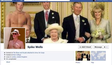 """Mit diesem leicht an die aktuellen Geschehnisse angepassten Bild der Königsfamilie schmückt nun bei Facebook ein neuer """"Spike We"""