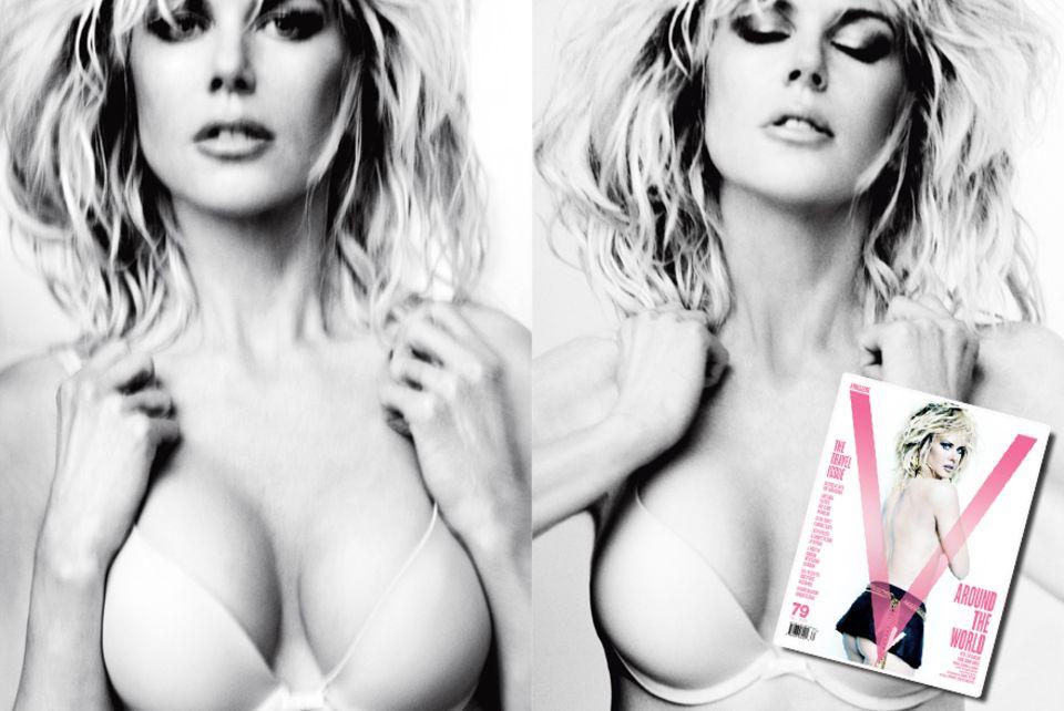 """Für die Coverstory des """"V""""-Magazins zeigt Nicole Kidman ihre wilde Seite -   und viel nackte Haut. Die Fotos machte Mario Testino"""