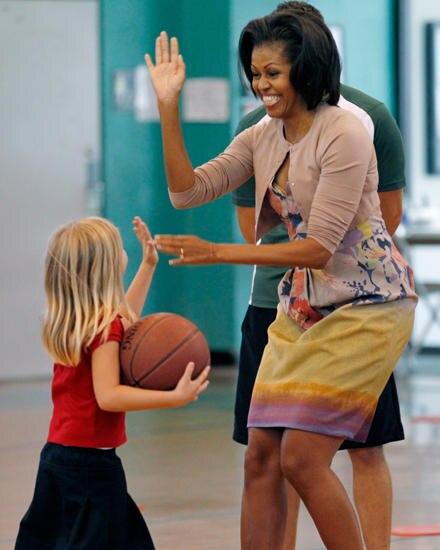 Michelle Obama liegt ausgewogenes Essen und Sport am Herzen, vor allem bei Kindern.