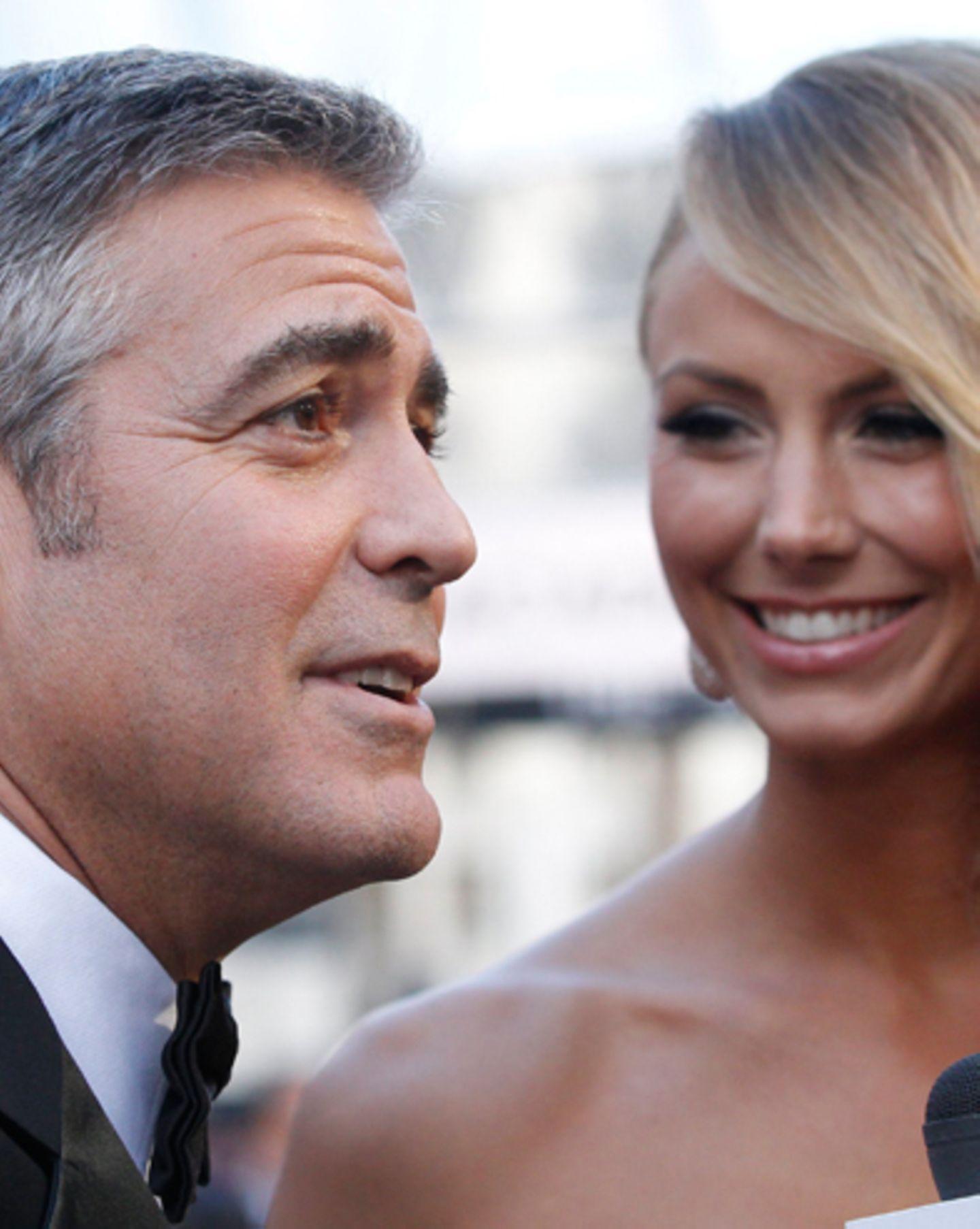 George Clooney + Stacy Keibler
