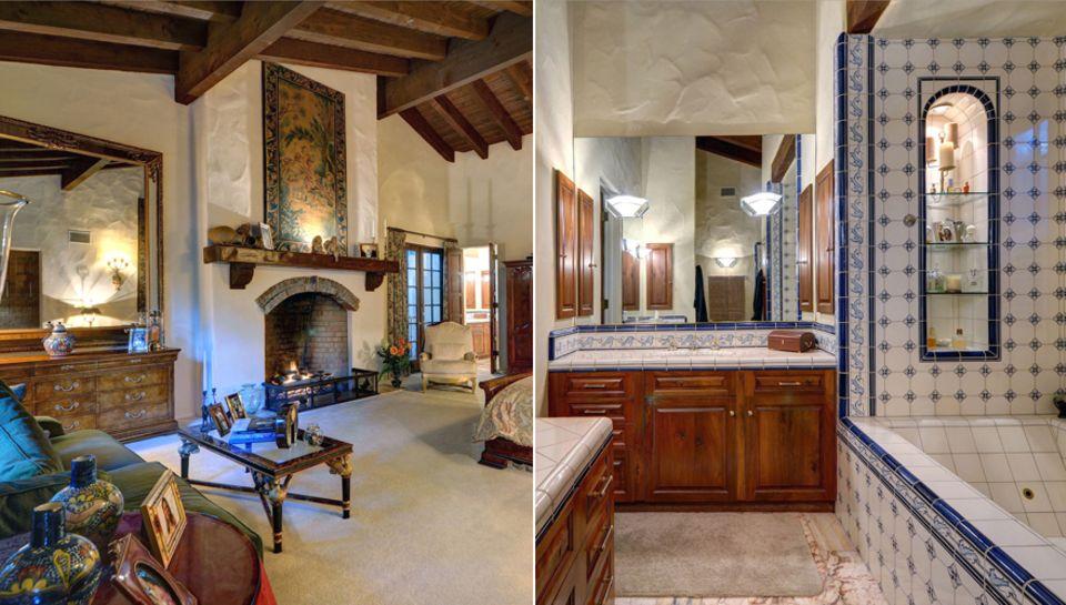 Viel Holz und dunkle Töne: So sieht das Haus für Vanessa Paradis von innen aus.
