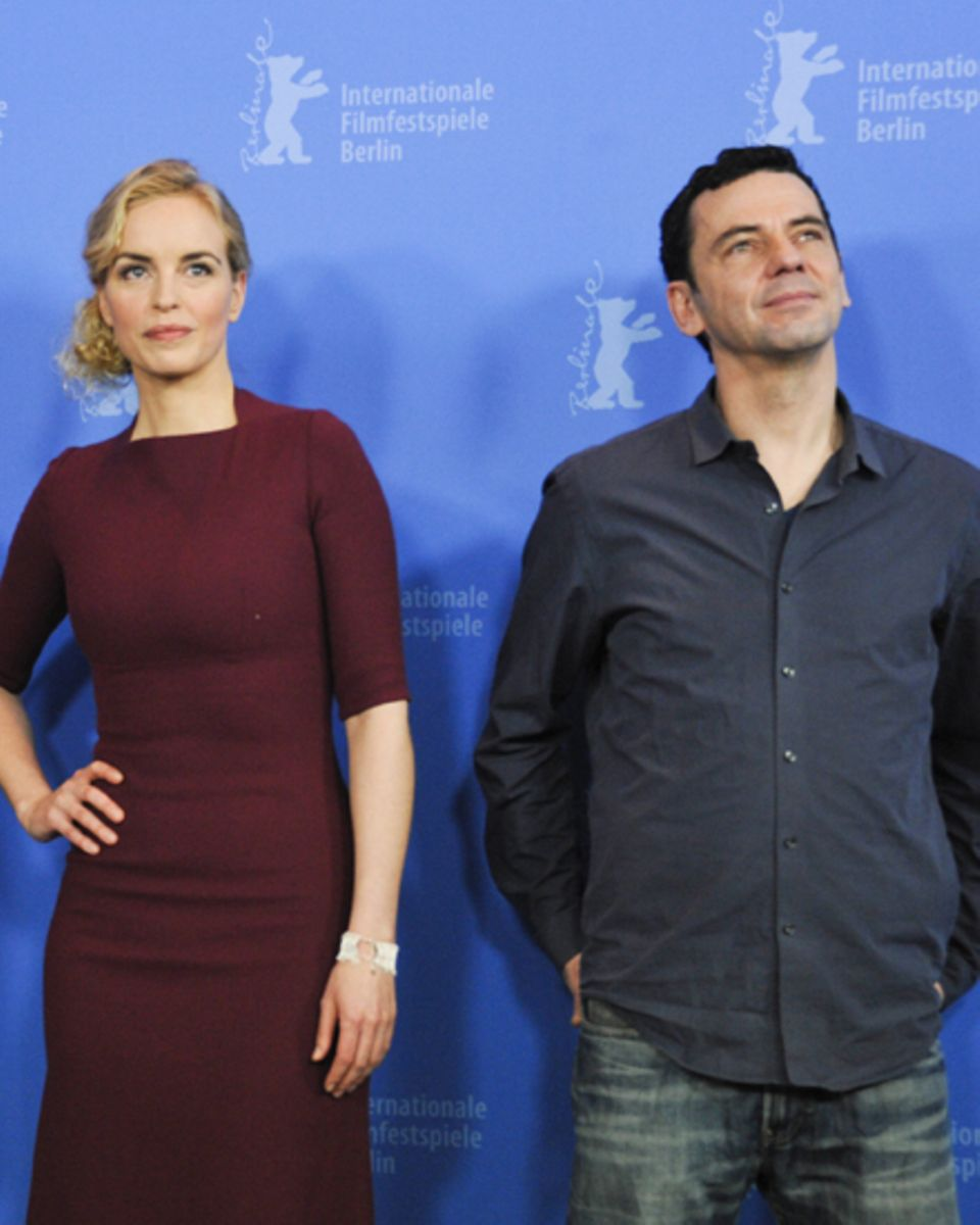 Nina Hoss und Christian Petzold auf der Berlinale 2012.