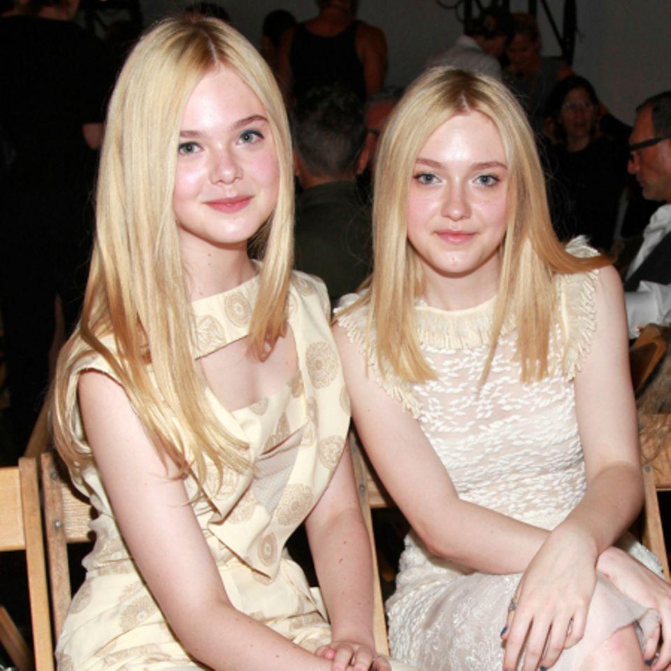 Dakota Fanning (re.) mit ihrer Schwester Elle