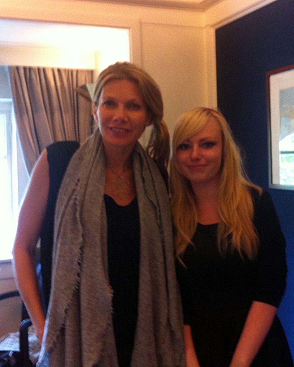 Gala.de-Praktikantin Marie-C. Thielitz traf Ursula Karven in Hamburg