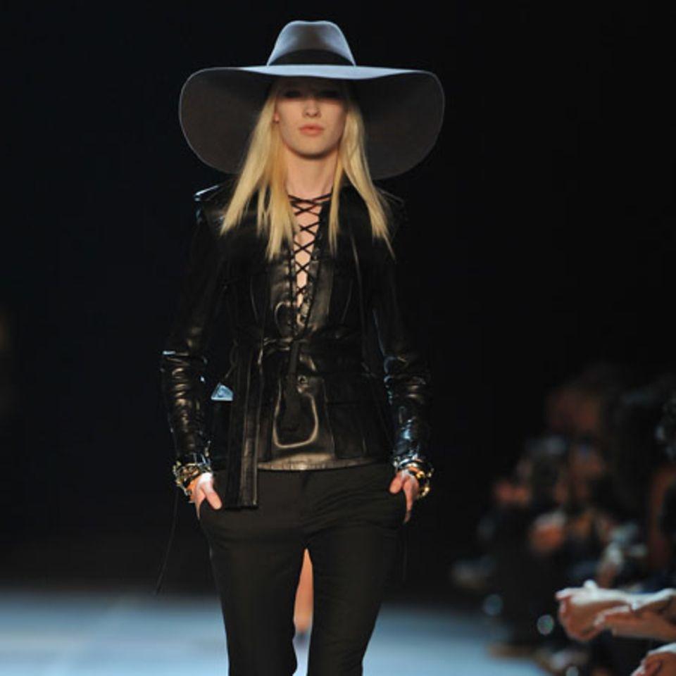 Model bei Hedi Slimanes Show