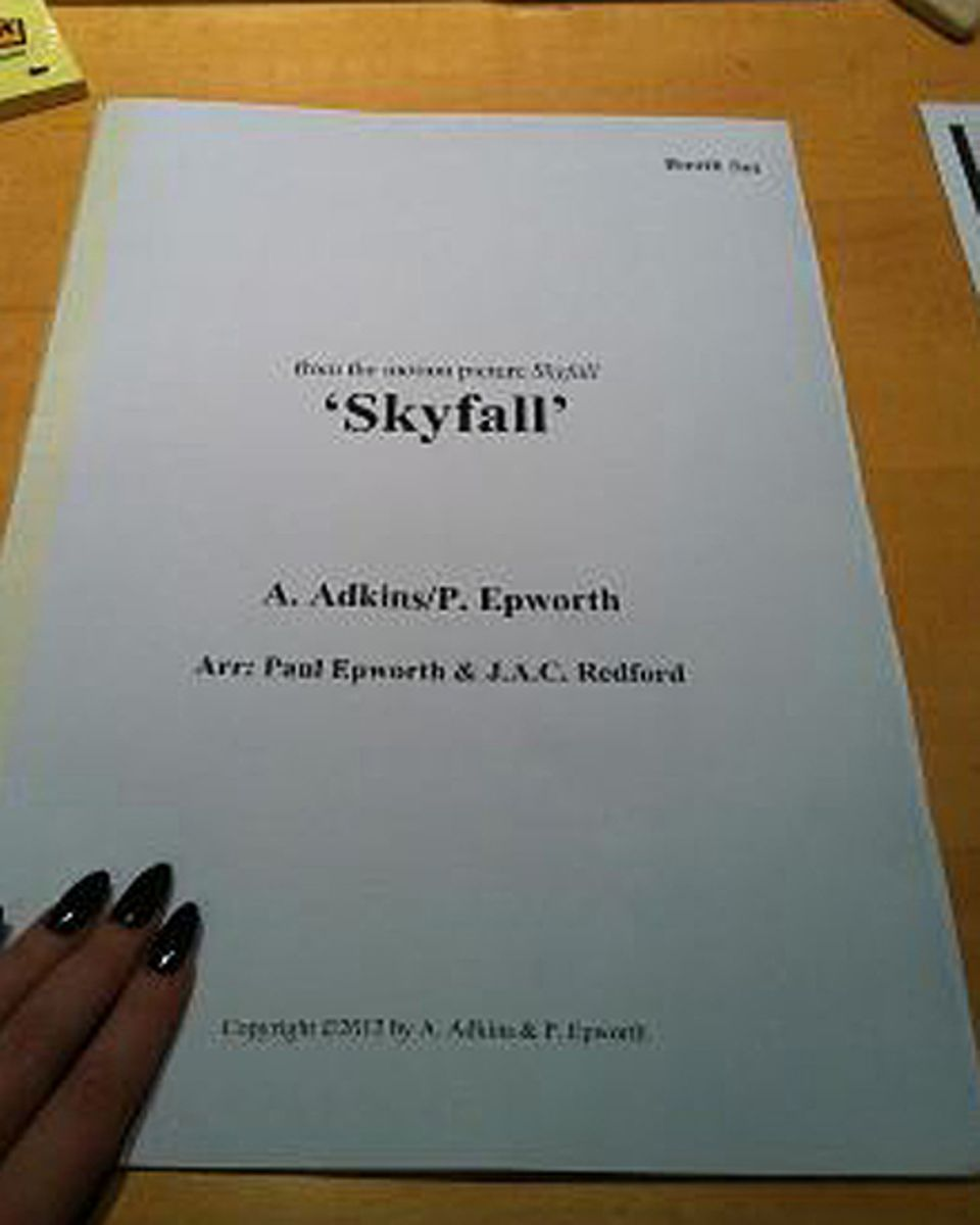 """Auf ihrem Twitteraccount veröffentlichte Adele dieses Foto: Sie ist die Sängerin des Bond-Titelsongs """"Skyfall""""."""