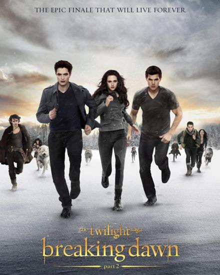 """So sieht das offizielle Filmplakat zu """"Breaking Dawn 2"""", dem letzten Teil der Vampirsaga, aus."""