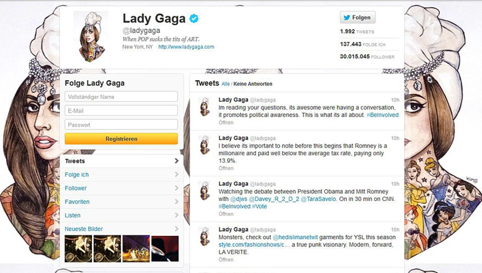 Lady GaGas Twitter Account