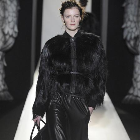 Leder-Baggypants von 'Mulberry'