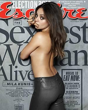 """Für das US-Männermagazin """"Esquire"""" lässt Mila Kunis die Hüllen fallen."""