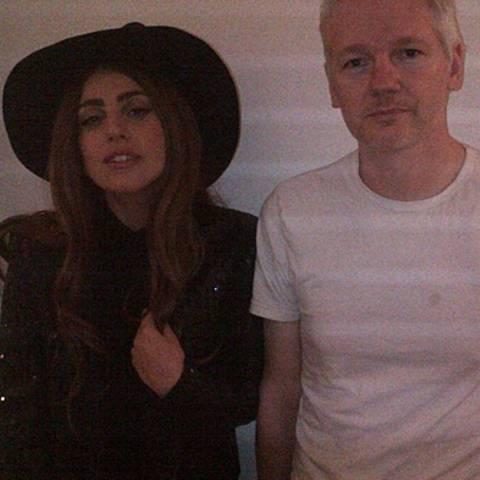 Lady GaGa, Julian Assange